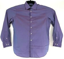 ARROW Mens L 16.5 34/35 SLIM FIT Purple L/S Button WRINKLE FREE Dress Shirt