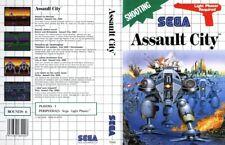 Assault City Pal Sega Master System Replacement Box Art Case Insert Cover