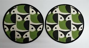Magnetic Aga covers. Set of 2 with loops or magnets. Orla Kiely retro Owls.