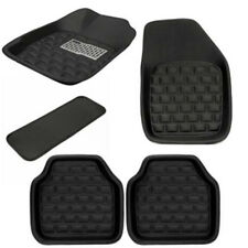 5PCS Universal Car Floor Mats Front & Rear Interior Carpet Trim Black Easy Clean