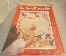 Vintage Pound Puppies Party Poster  MIP