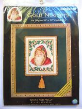Dimensions Santa and Holly / Gold Nuggets Counted Cross Stitch Kit 8679 / 2002