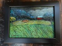 ORIGINAL OIL PAINTING DIRECT FROM ARTIST Oregon farm landscape 5 x 7 c Zachary
