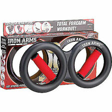 IRON GYM IRON ARMS Hand and Forearm Trainer - Black/Red