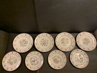 Vintage Set Of 8 Johnson Brothers TWELVE DAYS OF CHRISTMAS Salad & Dinner Plates