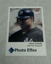 JASON GIAMBI 2003 FLEER ULTRA PHOTO EFFEX INSERT CARD