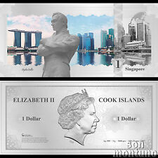 Skyline Note SINGAPORE - Flexible 5 Gram Silver Dollar - 2017 Cook Islands $1