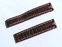 20mm Breitling Band 721P 20/18 Croco braun brown Strap für Faltschliesse 073-20