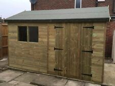 10 x 8 Reverse Apex Workshop Shed / fully pressure treated