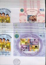 PAPUA NEW GUINEA - 2010 PFADFINDERINNEN GIRL SCOUTS BLOCK 105 106 JE 10 FDC