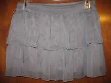"""STUDIO Y Ladies' Large TIERED SKIRT (gray w/ side zipper; 15.5"""" long) perfect"""