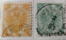 Bosnia and Herzegovina Scott # 4a,5a and ^-9 used 1879