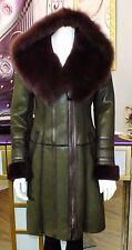 Luxus Designer Damen echter Lammfellmantel m  Toskana  Fell mit Kapuze Gr.36 NEU