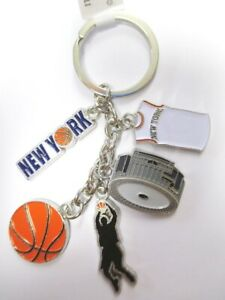 New York Basketball Keyring Charms Pendant, Souvenir