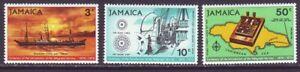 Jamaica 1970 SC 319-321 MH Set Telegraph Service Centenary