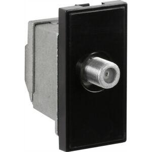 Arlec TV/SAT Outlet Module F-Type Female Connector Satellite Black 7844GB Sealed