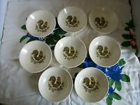 (8) Vintage Taylor Smith Taylor TS&T Rooster Small Berry Bowl USA~ Set of 8