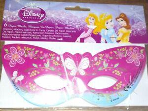 Disney Princess Masks 6 in a pack paper party mask DISNEY kids party Eye mask