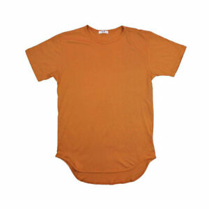EPTM Men's Elongated Long Tee Burnt Orange ELONGATED T-SHIRT