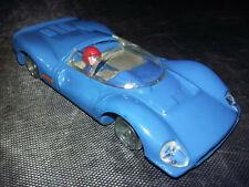 SCALEXTRIC C41 FERRARI GT 330 SPAIN mot OK - casque rouge - manque pneus & guide