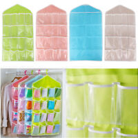 16 Pockets Door Hanging Storage Bag Shoe Rack Hanger Multi-layer Tidy Rear Pouch