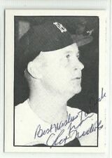 Chet Nichols 1982 Boston Globe Red Sox autographed auto signed card