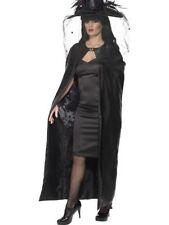 Donna adolescenti Deluxe Black Witch MANTELLO HALLOWEEN HORROR Mantello Movie Fantasy