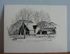 Original Pen & Ink Drawing, signed Angeloch (Robert), Woodstock,NY