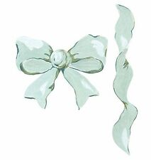 Bows Ribbons Baby Green Ribbon 25 Wallies Border Decorate Stickers Anna Griffin