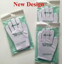 3 Pairs of Touch Me (TM)  Cotton / Spandex Moisturizing Hand Gloves - 3 Pairs