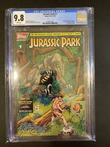 JURASSIC PARK #1 CGC 9.8 WHITE PAGES Rare LOW POPULATION