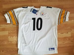 AUTHENTIC KORDELL STEWART PITTSBURGH STEELERS NFL WHITE REEBOK JERSEY 58 4XL NEW