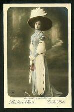 French 1905 Pauline Chate Art NOUVEAU Hand Tinted Music Hall Star FASHION Plate