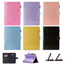 For Samsung Galaxy Tab A T280 T350 T580 Bling Glitter Leather Stand Case Cover