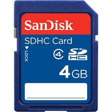 Carte Mémoire SD SDHC SDXC SANDISK 4,8,16,32 Go pour Appareil Photo Authentique