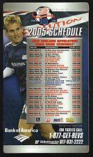 Tayor Twellman--New England Revolution--2005 Magnet Schedule--Bank of America
