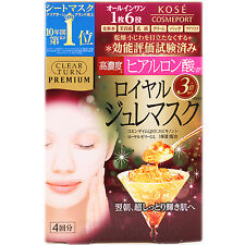 Kose Clear Turn Premium Royal Jelly Mask Hyaluronic Acid 4pcs
