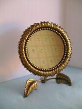 Vintage Andrea by Sadek Brass Dresser/Vanity Mirror Sunflower Design - Unique!