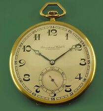 Vintage 1924 IWC International Watch Co. Schaffhausen 14k Antique Pocket Watch
