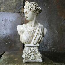 Garden Greek Roman Goddess Athena Bust Statue Frost Resistant Grey Stone
