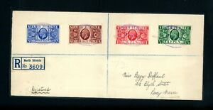 GB  1935 Silver Jubilee Registered First Day Cover     (O561)