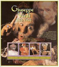 Zambia 2001 MNH Giuseppe Verdi Falstaff 4 M/S Composers Opera Stamps