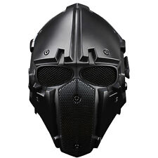 Tactical Airsoft Paintball Helmet And Mask 2in1Protective Gear Full Face Black