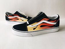 VANS OLD SKOOL FLAME [SZ 7 = WMN'S 8.5] BLACK WHITE RED LOW REISSUE SUPREME WTAP