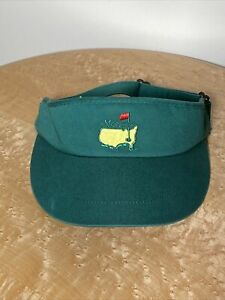 AMERICAN NEEDLE MASTERS AUGUSTA NATIONAL GOLF CASUAL VISOR CAP CLASSIC GREEN EUC