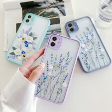 For iPhone 11 12 Pro Max XS XR SE 2 8 7+ Shockproof Flower Phone Case Hard Cover