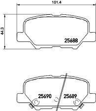 Mintex Rear Brake Pad Set MDB3336  - BRAND NEW - GENUINE - 5 YEAR WARRANTY