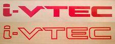 Honda I-VTEC Stickers Set - IVTEC Side Panel Decals I VTEC - Red Graphics Civic