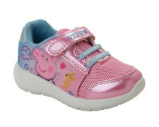 GIRLS PINK PEPPA PIG TOUCH FASTEN PUMPS TRAINERS SPORTS SHOES INFANTS SIZE 5-10