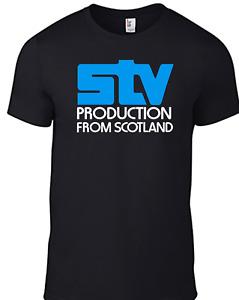 Scottish Television STV T-shirt TV 1970s Logo Retro BBC Vintage Regional 80s B